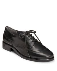 Aerosoles | Black Accomplishment Leather Oxfords | Lyst