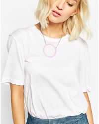 ASOS | Purple Open Circle Enamel Pendant Necklace | Lyst