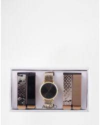 ALDO | Multicolor Luskin Multi Strap Watch | Lyst