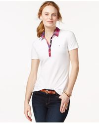 Tommy Hilfiger | White Contrast-collar Polo Shirt | Lyst