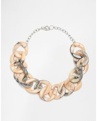 SELECTED - Pink Ressina Marbled Link Necklace - Lyst