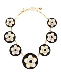 kate spade new york - Mod Floral Necklace Blackwhite - Lyst
