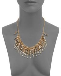 Saks Fifth Avenue - Metallic Beaded Fringe Necklace - Lyst