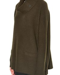 Vince - Green Roll-Neck Wool-Blend Sweater - Lyst