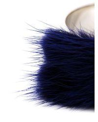 Fendi - Metallic Fur Cuff - Lyst