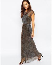 Vero Moda - Black Shimmer Maxi Dress - Lyst