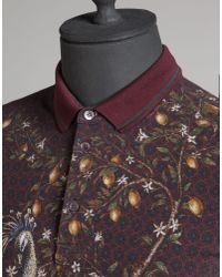 Dolce & Gabbana - Purple Peacock Print Cotton Piqué Polo for Men - Lyst