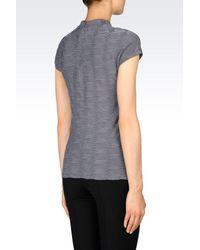 Armani - Gray Print T-shirt - Lyst