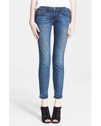 Current/Elliott | Blue 'the Stiletto' Skinny Jeans | Lyst