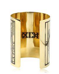 KTZ - Metallic Le Pendu Tarot Brass Cuff Bracelet - Lyst