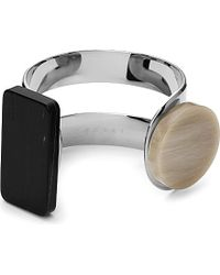 Marni - Natural Silver-toned Horn Cuff - Lyst
