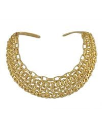 Kenneth Jay Lane - Metallic Polished Gold Collar Necklace - Lyst