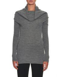 JOSEPH - Gray Cowl-neck Wool Sweater - Lyst