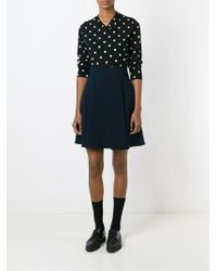 Comme des Garçons | Black Dotted Print Sweater | Lyst