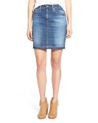 AG Jeans Blue 'erin' Denim Skirt