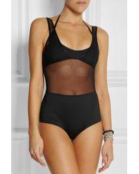 Zimmermann - Black Filigree Layered Halterneck Swimsuit - Lyst