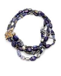 Alexis Bittar - Elements Phoenix Sodalite, Blue Aventurine, Labradorite & Pyrite Tressage Necklace for Men - Lyst