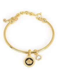 Juicy Couture | Metallic Enamel Crown Slider Bangle Bracelet | Lyst