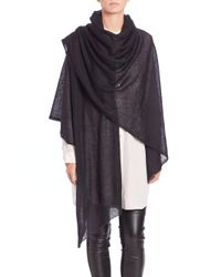 Eileen Fisher | Black Airy Knit Wrap | Lyst