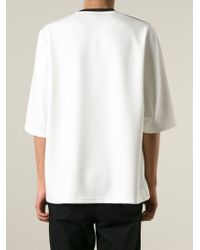 Christopher Kane | White Pages Print T-shirt for Men | Lyst