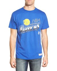 Mitchell & Ness - Blue 'golden State Warriors - Last Second Shot' Graphic T-shirt for Men - Lyst
