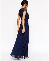 ASOS - Blue Tall Kate Lace Maxi Dress - Lyst