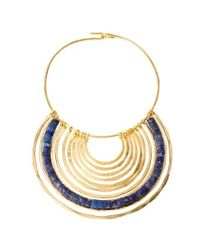 Robert Lee Morris | Metallic Large Gold And Sodalite Pendant On Wire | Lyst