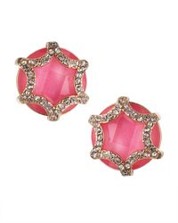 Fragments - Crystal Starburst Earrings Pink - Lyst