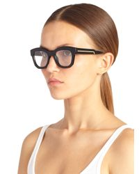 Stella McCartney - Black Square 50Mm Optical Glasses - Lyst