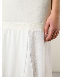 N°21 - White Asymmetric Hem Dress - Lyst