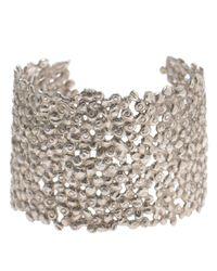 Natasha Collis | Metallic Large Dripped Sterling Silver Cuff | Lyst