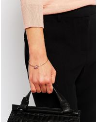 Ted Baker | Pink Saydah Crystal Square Cuff Bracelet | Lyst