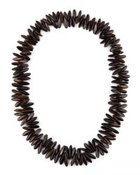 Nest - Black Agate & Horn Bead Necklace - Lyst