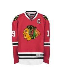 6b9ac95478f Lyst - Reebok Kids' Jonathan Toews Chicago Blackhawks Replica Jersey ...