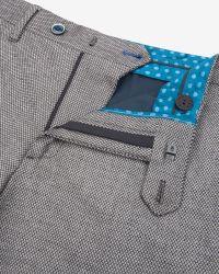 Ted Baker - Gray Veerity Diamond Jacquard Suit Trousers for Men - Lyst
