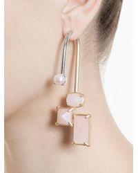 Volha | Pink Geometric Single Earring | Lyst