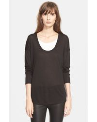 Vince - Black Two Tone Pullover - Lyst