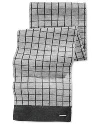 Michael Kors | Gray Michael Windowpane Muffler Scarf for Men | Lyst