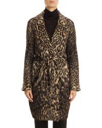 Martin Grant | Multicolor Belted Leopard Coat | Lyst