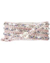 Chan Luu - 32 Pink Mixsuraiya Wrap W Contrasting Leather - Lyst