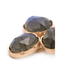 Irene Neuwirth | Black 18kt Rose Gold Labradorite Earrings | Lyst