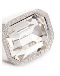 Rebecca | Metallic 'elizabeth' Marquis Post Earrings | Lyst