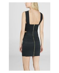 Express - Black Cut-out Bandage Sheath Dress - Lyst