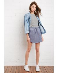 Forever 21 - Blue Heathered Drawstring Skirt - Lyst