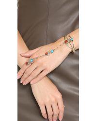 Sunahara   Metallic Leaf Chain Gypsy Cuff Silver   Lyst