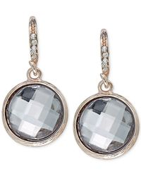 INC International Concepts | Pink Inc International Concept Rose Gold-tone Crystal Round Drop Earrings | Lyst