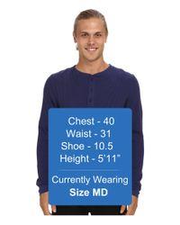 Alternative Apparel - Blue Organic Thermal Henley Ls for Men - Lyst