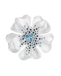 Alexis Bittar - Metallic Encrusted Flower Pin - Lyst