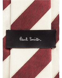 Paul Smith - Red Regimental Stripe Silk Tie for Men - Lyst