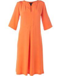 Saloni - Orange 'Dita' Crepe Dress - Lyst